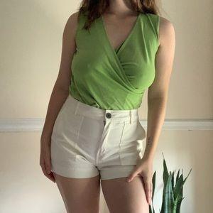 Green wrap tank top 🌱
